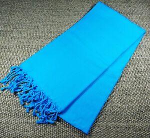 Turkish File Premium Quality Hamam Peshtemal & Beach Towel Blue