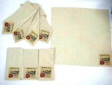Noble Excellence Dinner Napkins Beige Multicolor French Country Chateau Set of 8