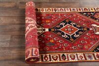 VINTAGE Tribal South-west 10 ft Runner Abadeh Rug Hand-Knotted Stair Carpet 4x10
