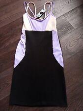 Black & Lilac Body Contour Bodycon Dress SIZE 12
