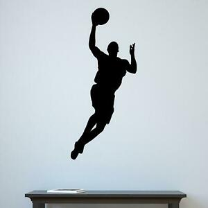 Jumping Basketball Player Silhouette v2 Sports Sports Wall Sticker Decal  Vinyl