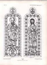 Gótico Ratisbon piezas de vidrio de permanece en plena y triforium 1