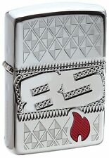 Zippo 29442, 85th Anniversary, Collectible of Year-2017, HP Chrome Armor Lighter