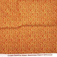 "Kaffe Fassett for Rowan Fabric Orange Clover GP73 about 1yd 42x36"""