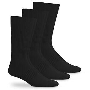 Jefferies Socks Mens Classic Acrylic Rib Casual Crew Work Dress Socks 3 Pair