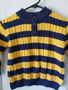 Gymboree Boy's 3T Blue/yellow sweater pullover
