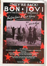 BON JOVI You Give Love A Bad Name UK magazine ADVERT / mini Poster 11x8 inches