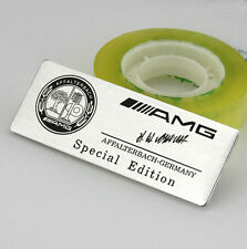 Auto car AMG Aufkleber Emblem Alu Schriftzug Plakette für Silber Apfelbaum NEW