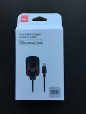 Verizon 6 FT Cable Rapid Wall Charger for iPhone iPod iPad Fast