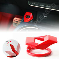 Engine Start Stop Push Button Cap Cover Trim Red Aluminum Alloy Car Accessories