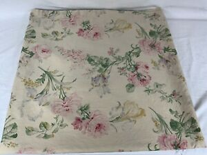 Vintage Ralph Lauren THERESE KING SIZE Flat Bed Sheet Floral Sateen