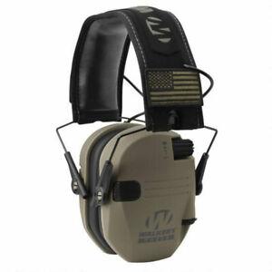 Walkers Razor Slim Shooter Electronic Folding Ear Protection Muffs, Tan Patriot