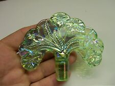 Fenton Glass Replacement Fan Shaped Perfume Stopper - Light Green Iridescent