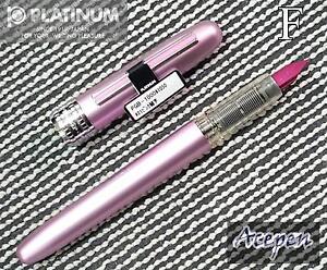 Platinum PGB-1000 PLAISIR 0.3 F fountain pen PINK+ 2 cartridges BLUE black ink
