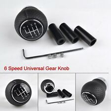 Universal 6 Speed Manual Car Gear Shift Knob Leather Shifter Lever Replacement