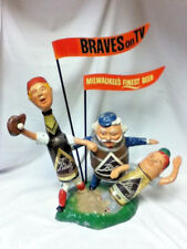 Blatz beer sign 1958 cast iron safe at home baseball guy statue metal Braves MN4