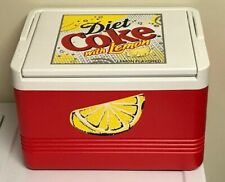 Coca-Cola Diet Coke With Lemon Igloo Legend 12 Cooler Red And White Rare