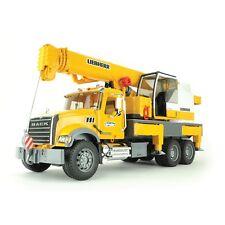 Bruder Mack Granite Liebherr Gru Camion Giallo 02818 Veicolo da cantiere