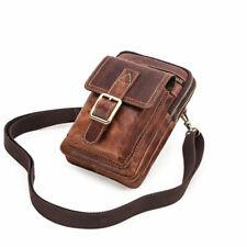 New Genuine Leather Men Phone Purse Wallet Shoulder Crossbody Waist Bag Belt Boy