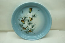 ROYAL COPENHAGEN PLATTER FAJANCE 967/3892 12in DIA GRAY BLUE FOLIAGE MALMER
