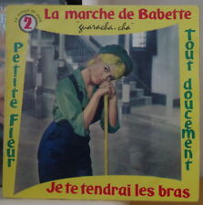 PIERRE DELVINCOURT LA MARCHE DE BABETTE BRIGITTE BARDOT COVER FRENCH EP PBM 1959