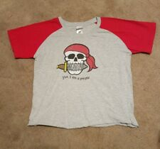 "Margaritaville Youth XL ""Yes I am a Pirate"" Baseball Sleeves Type TShirt"