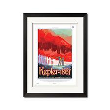 Nasa Exoplanet Travel Bureau Planet Kepler-186f Retro Poster Print