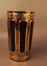 8934:WITTIG Kristallglas Hadamar,Rotbeize,Handgearbeitet,Goldbemalung,Traumhaft!