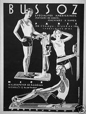 PUBLICITÉ 1930 BUSSOZ MACHINES A RAMER MOTEURS DE SANTÉ - ADVERTISING