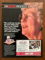 1989 LensCrafters Eyeglasses Vintage Print Ad/Poster 80s Retro Pop Art Décor