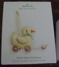 Hallmark Ornament 2007 Baby's First Christmas Pull Toy Duck NIB