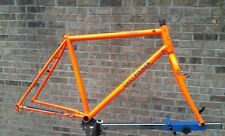 "Vtg Gary Fisher Paragon Frame Fork 19-1/2"" Retro MTB Signal Orange Quad Tange"
