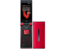 AU KDDI SHARP SHF31 AQUOS K ANDROID FLIP PHONE CELL UNLOCKED RED NEW 007SH