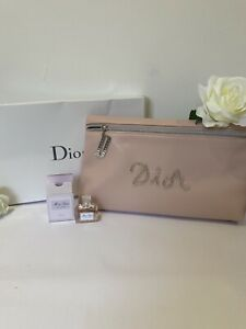Christian Dior Pink Large Trousse Makeup Zip Pouch And Miss Dior EDP