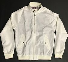 Ben Sherman Harrington Men's White Jacket Size M MF11060