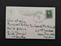 New Mexico: Lynn 1907 Train Postcard, DPO Colfax Co