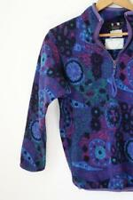 Vintage REI Fleece Jacket Youth Teen Jrs.Retro Purple Orb Tribal Print M/L