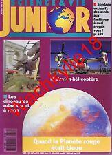 Science et vie junior 22 du 01/1991 Dinosaures robots Surdité Mars Tunnel Manche