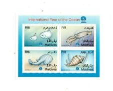 VINTAGE CLASSICS - MALDIVES 9829 - Year Of Ocean - Block of 4 Stamps - MNH