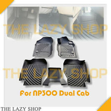Full Set 3D Moulded Car Mats Floor Mats For NP300 15-18 2nd Row NO Cup Holder