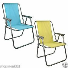 New Folding Spring Garden Deck Chair Beach Party Camping Picnic BBQ Seat