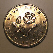 Canada Alberta Wild Rose Coat of Arms 1905 Entered Confederation Medal