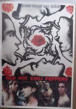 MUSIC POSTER~Red Hot Chili Peppers 1991 Blood,Sugar,Sex,Magik NOS Original Album