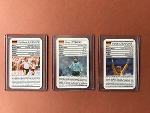 lot 3 Cartes 1988 Ace Sporting Greats Football Schumacher Rumenigge Littbarski