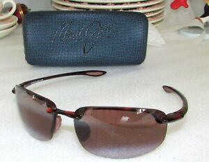 Maui Jim MJ-407-10 Ho'okipa Polarized Sunglasses Tortoise HCL Bronze Rimless NEW