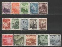 Austria 1935 Sc# C32-C46 MH VG/F - Great Austrian airmail complete set