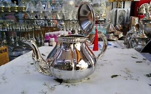 1,2 Liter Moroccan Handmade high quality Teapot, for 10 Cups Brass Silver Plated