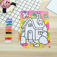 2 Piece/Set Kid'S Color Sand Painting Accessories 9 Color Fine Colored Sand FE