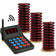 Restaurant Wireless Paging Queuing System:1xTransmitter+30xCoaster Pager US Ship