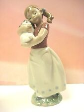 MY SWEET LITTLE PUPPY GIRL WITH DOG FIGURINE BY LLADRO  #8531